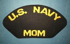 Vintage 1990's US Navy Mom Iron On Jacket Hat Patch Crest 097
