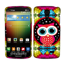 Colorfull Star Owl Case for  LG Lucid 3 VS876 Cover Phone Safty