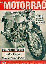 Motorrad 21 67 Yamaha YAS1 125 BMW R 60 Norton Commando 1967 Japan Zweitakter