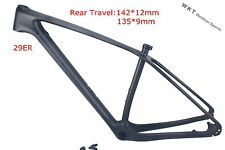 "Carbon Cycling 29ER Mountain Bike Frame 19"" MTB  2016 Bicycle Frame 135 or 142mm"