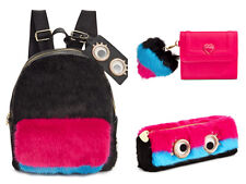 BETSEY JOHNSON xox Trolls Faux Fur Backpack-Pencil Case-French Wallet NWT