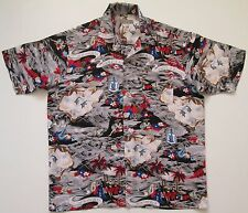 "Vintage homme ""land of aloha hawaïen/dance shirt xl/51"" (508E)"