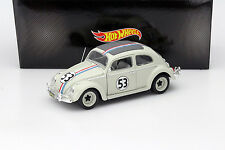 Volkswagen VW Escarabajo Herbie #53 de la película The Love Bug 1962 gris claro 1:18 Hot