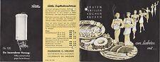 COSSEBAUDE b. Dresden, Katalog 1936, Gasherde u.-kocher, Eisenwerk G. Meurer AG