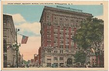 Court Street and Security Mutual Life Building in Binghamton NY Postcard