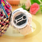 Fashion Candy Color Retro Jelly Unisex Womans LED Digital Wrist Watch White