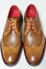 Jeffery West Goodyear Welted Presence Bonham Tan Calf/Caviar Shoes 8 BNIB