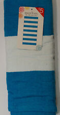 """Jay Franco & Sons Wide Stripe Beach Towel 27"""" X 58"""" 100% Cotton Turquoise/White"""
