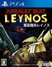 USED PS4 Assault Suit Leynos DRACUE SOFTWEAR Free Shippiing Japan Import Games
