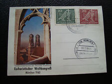 ALLEMAGNE (rfa) -  carte 30/7/1960 (cy71) germany