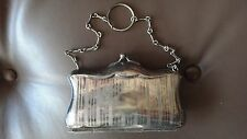 A RARE OLD VINTAGE AND UNIQUE SILVER PURSE FOR THE DISCERNING WOMAN