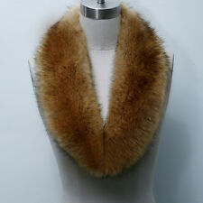 Solid Color Shaggy Faux Fur Collar Stole Fluffy Scarf Wrap Warm Neck For Coat