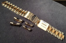 New ZRC Made in France 18mm or 20mm Bracelet 2 Tone Watch Band Flip Lock $49.95