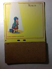 Carol Burnett & Friends Vintage 1970's Promotional Cork Memo Board