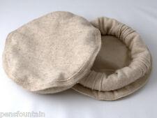 beige color Handmade afghan pakol pakul wool hat cap topi for men and women