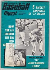 JANUARY 1973 BASEBALL DIGEST  OAKLAND A'S AND PETE ROSE ON THE COVER
