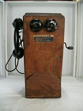 Antique KELLOGG Wood Wall Mount Telephone for restoration