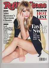 ROLLING STONE MAGAZINE ISSUE #1168 OCT 25th 2012 TAYLOR SWIFT THE HEARTBREAK KID