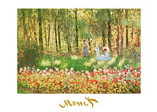 Claude Monet la famille de l'artiste dans le jardin dans Argenteuil poster image