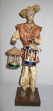 Vintage Xalisco Mexico Paper Mache figure old man with birds in cages