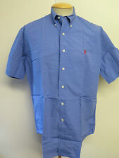 Ralph Lauren POLO men's Blue Short Sleeved Casual Shirt Loose Fit M 38-40""