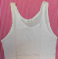 Vintage childrens sleeveless vest 1920s 1930s Pre-war boys clothes UNUSED white