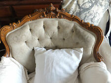Shabby Chic French Louis Style Armchair : Upholstery Restoration Project