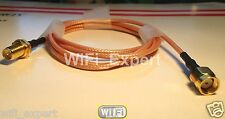 WiFi Antenna EXTENSION Cable/Lead Wireless RP SMA male to female 20 inch 50cm US