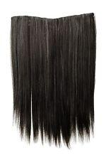 Haarteil breit Haarverlängerung 5 Clips glatt Grau-Mix 45cm L30173-44