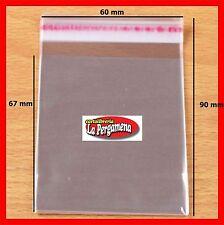 Bustine plastica trasparente con strip adesiva formato 6X9 per confezioni 100 PZ