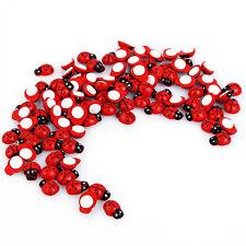 Mini Wooden Ladybird Ladybug Sticker Adhesive Fridge Party Decorating Craft Gift
