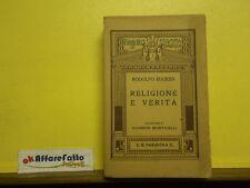 L 5.883 LIBRO RELIGIONE E VERITA' DI RODOLFO EUCKEN 1923