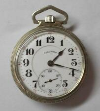 16s Illinois 21J Bunn Special Railroad Grade White Gold Filled OF Pocket Watch