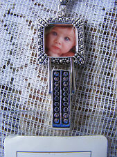 Picture Frame Photo ID Mom Grandma Badge Tag Key Holder Necklace Lanyard SALE
