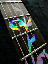Tree of life inlay stickers for a guitar neck fret markers (holographic silver)