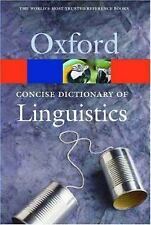 The Concise Dictionary of Linguistics (Oxford Paperback Reference)-ExLibrary
