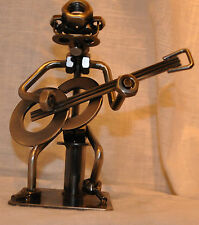 Guitar Player Metal Nuts and Bolts Musician Figurine Music Gift