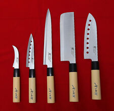 5 Knives Set Chef Knife Japanese Sashimi Kitchen Cutlery Stainless Steel Sushi
