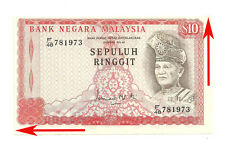 "MALAYSIA RM10 3rd Series ERROR PRINT SHIFT & NO. MISALLIGN  F/48 781973 ""EF+"""