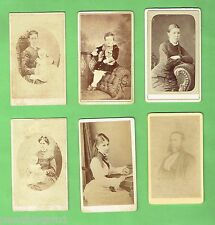 #D151.  SIX SMALL  EARLY CABINET CARD PHOTOGRAPHIC IMAGES