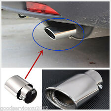 Stainless Steel Silver Chrome Car Pickup Exhaust Tail Muffler Tip Pipe 1.8-2.2 T