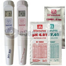 PH55 + EC60  COMBO - Milwaukee Waterproof PH/EC/TDS/PPM/Temp Meter/Solution