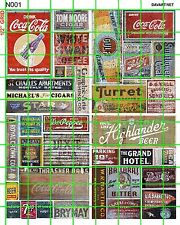 N001 DAVE'S DECALS N SCALE DECALS GHOST SIGNS OLD BUILDING ADVERTS SODAS & GOODS