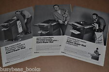 1968 Apeco photocopier advertisements x3, APECO Copier, golf pro Arnold Palmer
