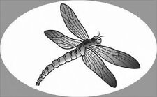 "4""X 6"" DRAGONFLY static cling etched glass window decal for vehicles and home"