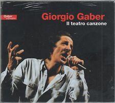 GIORGIO GABER IL TEATRO CANZONE - 2 CD DIGIPACK SIGILLATO!!!