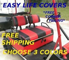 NEW Vinyl Golf Cart CUSTOM Front Seat Cover Set staple on CLUB CAR DS