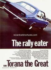 1971 LC HOLDEN TORANA GTR XU1 A3 POSTER AD ADVERT ADVERTISEMENT SALES BROCHURE