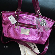 NWT COACH PINK SEQUINS ROCKER TOTE CONVERTIBLE CROSSBODY SHOULDER BAG PURSE NEW