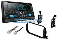 KENWOOD STEREO RADIO W/ INSTALL KIT & USB & AUX INPUTS W/ CD PLAYER & SIRIUS XM